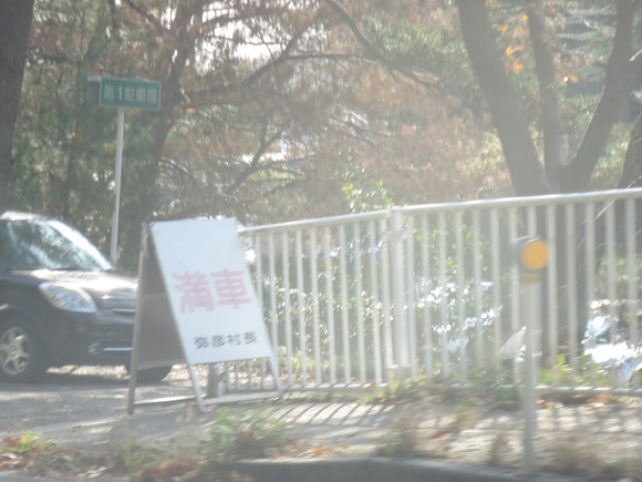 弥彦神社駐車場