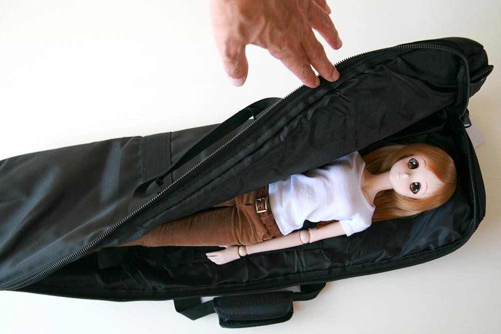 キャリーバッグの寝心地