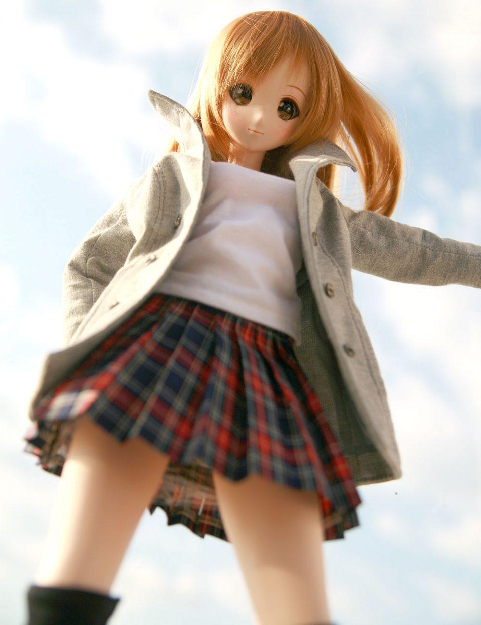 smart doll プリーツスカートコーデ