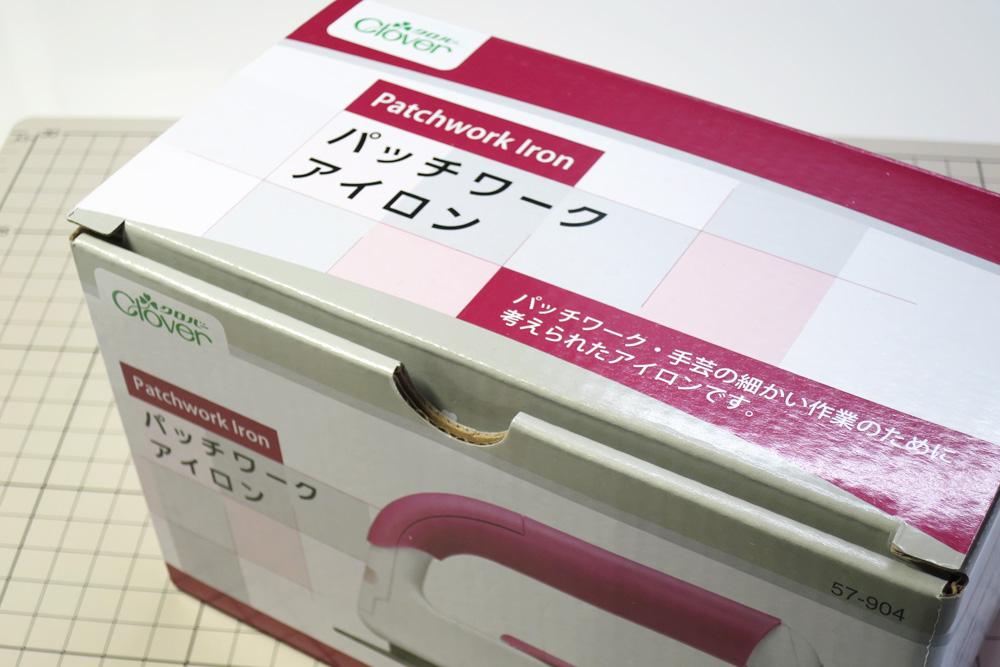 クロバーの「パッチワークアイロン」の箱